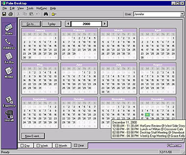 Palm Desktop 4.0 - Kalender