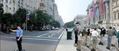 Kamens Vision: Touristenschwarm auf Segway-HT-Rollern