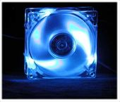 80mm Blue LED Fan
