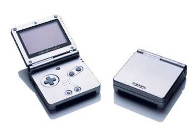 Game Boy Advance SP Silber