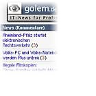 Golem.de: Sidebar mit neuen Funktionen (Update)