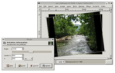Gimp 2.2.0 mit interaktiver Vorschau