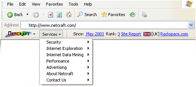 Netcraft Toolbar für Internet Explorer