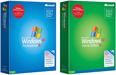 Windows XP Edition N in Home- und Pro-Version