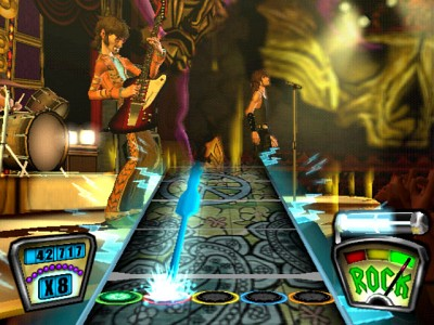 Virtuelle Band in Guitar Hero