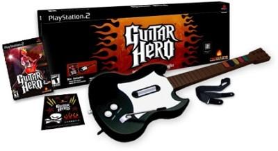 PS2-Musikspiel 'Guitar Hero' mit Gitarren-Controller