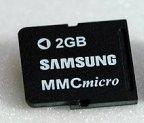 Samsung: 2 GByte Flash-Speicher im Micro-Format