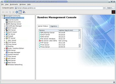 Xandros' Management Console