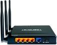 Router mit 802.11n, Gigabit-Ports und WLAN-Ausschalter