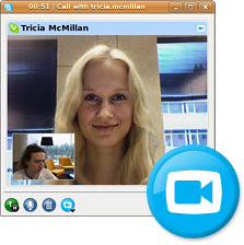 Skype mit Videounterstützung