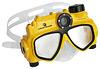 Unterwasser-Kamera in der Taucherbrille