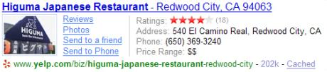 Modifiziertes Suchergebnis