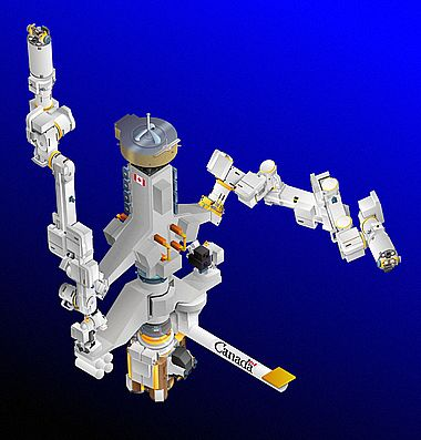 Special Purpose Dextrous Manipulator (Quelle: MDA Space Missions)