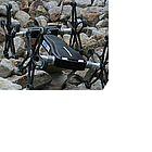 Hybrider Bein-Rad-Roboter überquert Stock und Stein