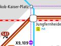 Fahrinfo Berlin für iPhone mit VBB-Netzspinne im Appstore