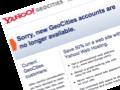 Yahoo schließt Geocities