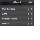 jQTouch - jQuery-Plug-in für iPhone-Applikationen