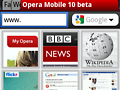 Opera Mobile 10 für Symbian S60 mit Tab-Browsing
