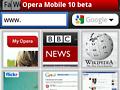 Opera Mobile 10 für Symbian S60 mit Tab-Browsing