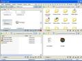 Dateiverwaltung mit vier parallelen Fenstern