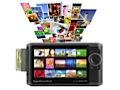 Mobile Fotofestplatte zeigt Rohdaten an