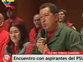 Chavez bei seiner Rede zu Noticiero Digital