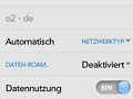 Roaming-Einstellungen in WebOS