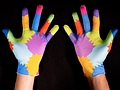 Motion-Capturing: Bunte Handschuhe vor Webcam