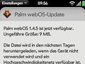 WebOS 1.4.5: Palm patzt bei der Anpassung an das WebOS PDK
