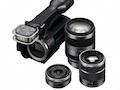 Sony: Wechselobjektiv-Camcorder stellt Alphaobjektive scharf