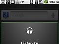 Voice Search öffnet den Musik-Player