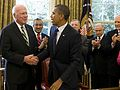 Senator Patrick Leahy mit US-Präsident Barack Obama