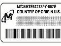 Etikett auf DIMMs von Micron in Sun-Servern