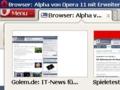 Opera 11 Beta: Tab-Stapel bringen deutlich mehr Browserkomfort (Update)