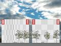 Konzeptzeichnung der beiden Rechnergebäude