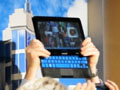 Samsung: Tablet-PC mit Schiebetastatur - und fast rahmenlose TVs