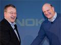 Ballmer und Elop verkünden Partnerschaft (Bild: Nokia)