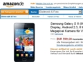 Samsung Galaxy S2: Android-Smartphone kostet bei Amazon 600 Euro