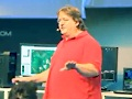 Gabe Newell auf der Cebit 2011
