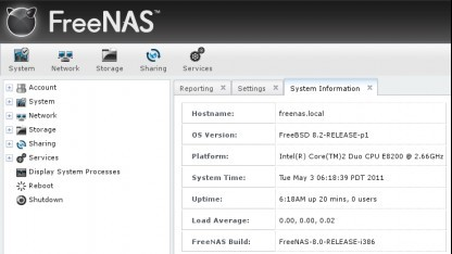 Network Attached Storage: FreeNAS 8.0 muss auf USB-Stick