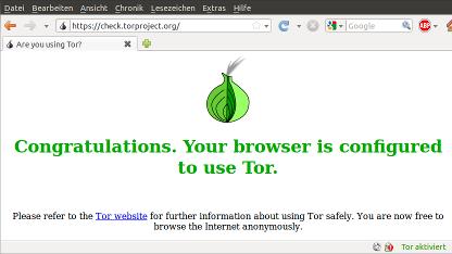 Die Anonymisierungssoftware Tor kann mit IPv6 verwendet werden.