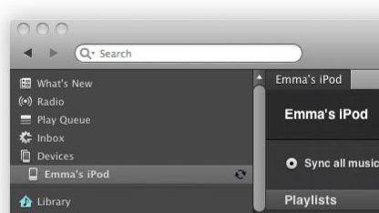 Spotify iPod-Synchronisation