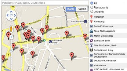 Google Maps API mit PlacesSearch