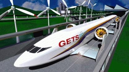 Aero Train - schwebender Zug der Zukunft