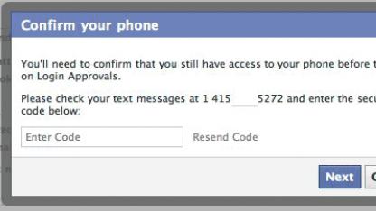 Gerätewechsel? Facebook fragt nach einem SMS-Code