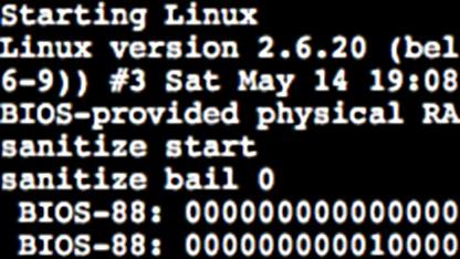 Bellards Javascript PC Emulator bootet Linux