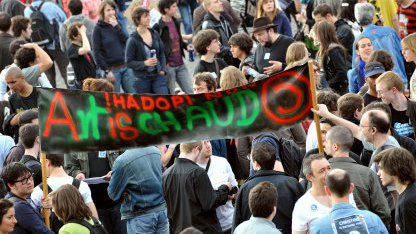 Proteste gegen Hadopi am 1, Mai 2009