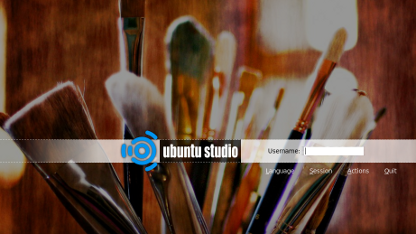 Der Login-Screen von Ubuntu Studio