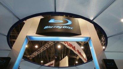 Blu-ray Disc Display auf der CES in Las Vegas im Jahr 2007
