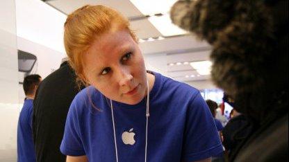 Apple-Beschäftigte im März 2011 in San Francisco